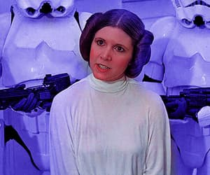 carrie fisher, film, and gif image