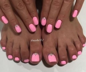 gems, pink, and nails image
