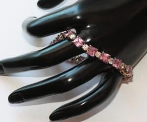 princess cut, line bracelet, and vermeil silver image
