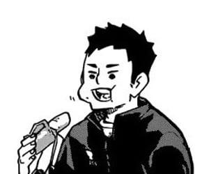 b&w, black and white, and manga image