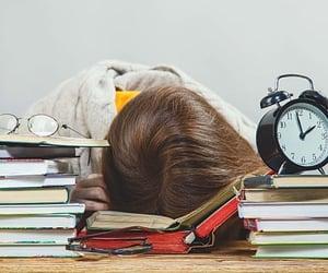 exam, study, and stress image