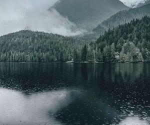 rain, travel, and lake image
