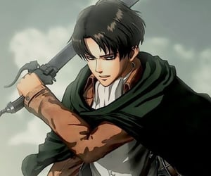 anime, levi, and sword image