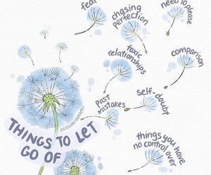 art, let go, and wildflower image