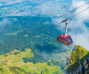 cable car, place, and switzerland image
