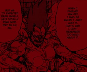 edit, dorohedoro, and red image