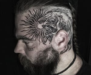 head and tattoo image
