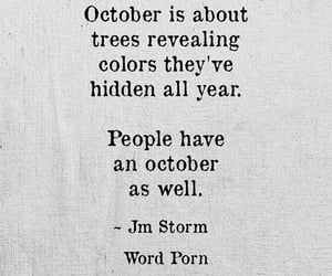 quotes, october, and fall image