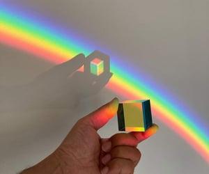 arcoiris, cube, and sky image