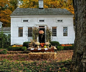autumn, country living, and house image