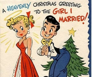 december, romance, and 50s image