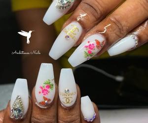acrylic, nails, and chanel nails image