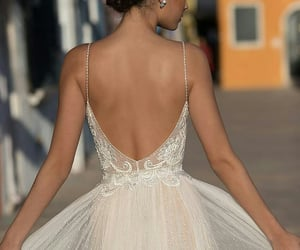 dress, robe, and wedding image