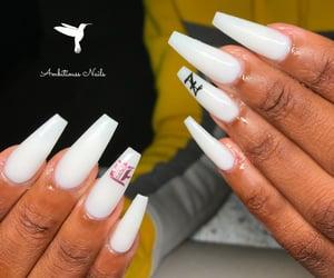 gel nails, acrylic nails, and nails image