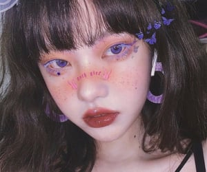 pretty, cute, and makeup look image