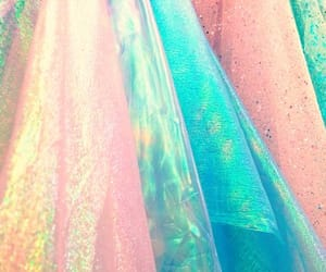 fabric, pastel colors, and iridescent fabric image
