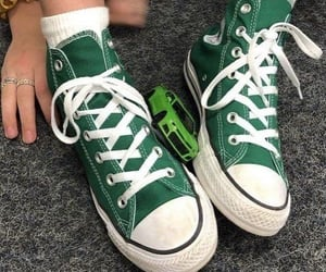 aesthetic, converse, and green image