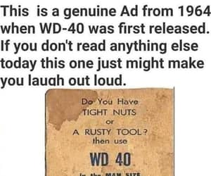 wd-40, genuine ad from 1964, and it's good stuff image