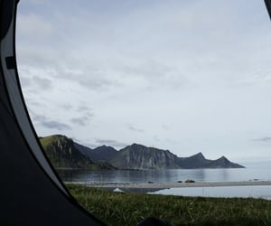 camping, hauklandbeach, and norway image