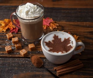 autumn, caramel, and drinks image