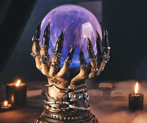 crystal ball, witchcraft, and wicca image
