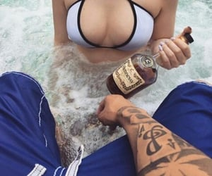 couple, tattoo, and hennessy image