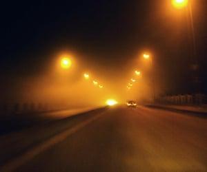 dark, lights, and street image