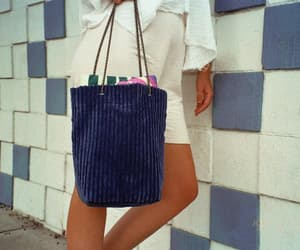 shopping bag, market tote, and blue tote image