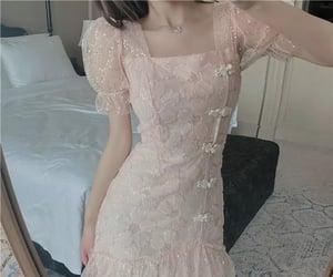 chiffon, dress, and lace image