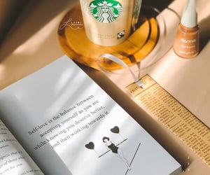 book, coffee, and تصميمي image