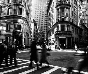 manhattan, new york, and black and white image