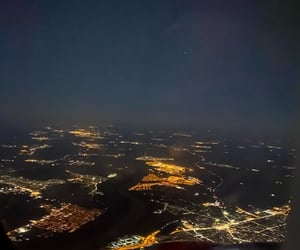 city, Flying, and night image