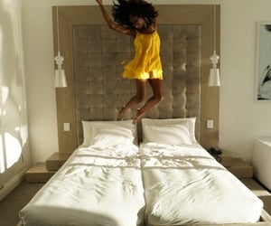 aesthetic, bed, and black women image