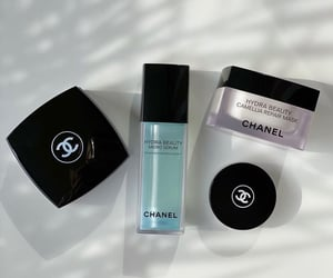 base, chanel, and cosmetic image
