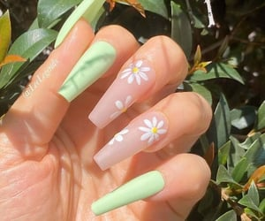 nails, green, and fashion image