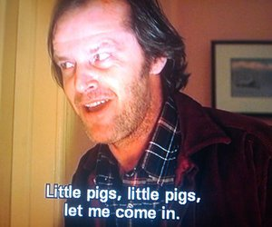 jack nicholson, The Shining, and quote image