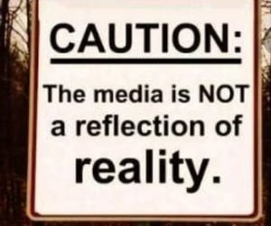caution, media, and danger image