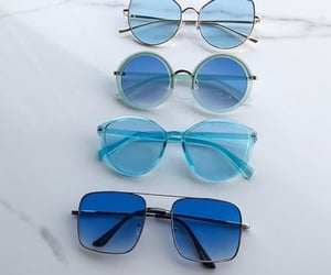 blue and sunglasses image