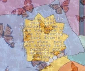 broken, butterflies, and simpson image