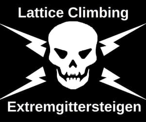 climbing, crossbones, and klettern image