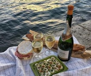 food, aesthetic, and wine image