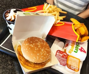 burger, food, and French Fries image