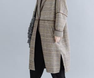 wool coat, long sleeved coat, and womens wool coat image