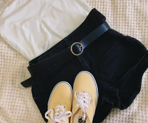 belt, outfit, and shorts image