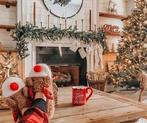 christmas, christmas tree, and reindeer image