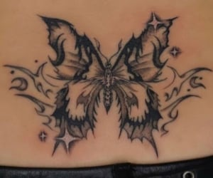 butterfly, gothic, and tat image