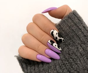 nails, cow, and purple image