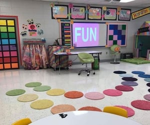 classroom, colorful, and decor image