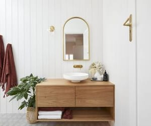 bathroom, Build, and gold image