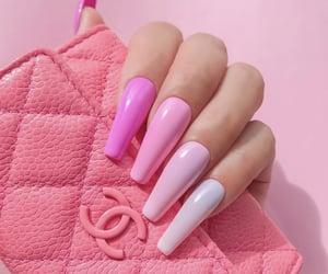 long nails, naiks, and pink nails image